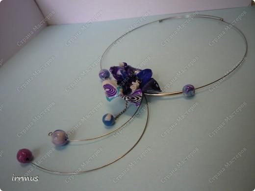 комплект -ожерелье и серьги. фото 11