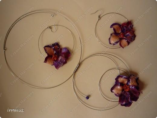 комплект -ожерелье и серьги. фото 1