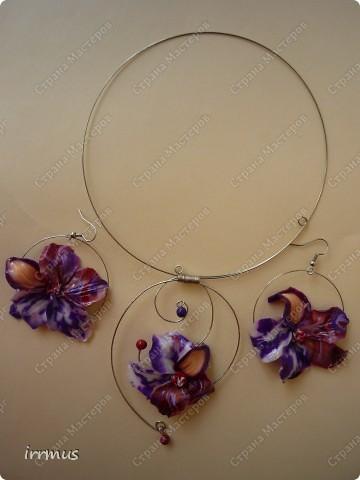 комплект -ожерелье и серьги. фото 4