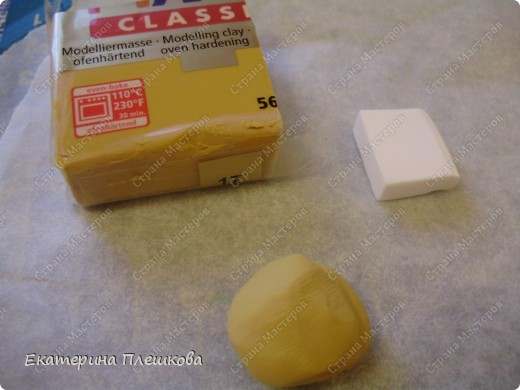 Карамельный цвет пластики нужно смешать с белым, т.к. сам карамельный давольно темноват для нашей булки. фото 1