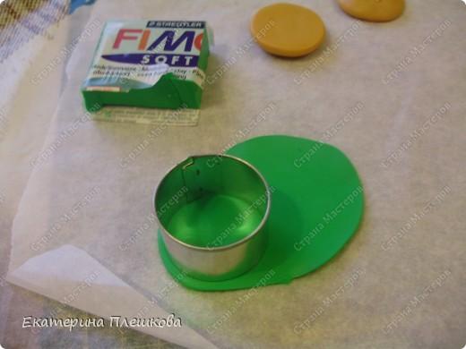 Карамельный цвет пластики нужно смешать с белым, т.к. сам карамельный давольно темноват для нашей булки. фото 3