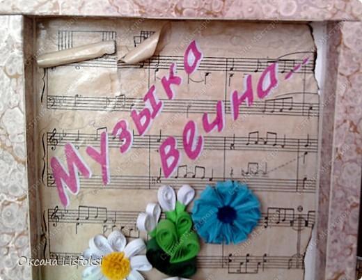 Это еще один подарок для преподавателя музыки. Идею с фоном позаимствовала у Тори4ки http://stranamasterov.ru/node/186742?c=favorite_587  фото 2