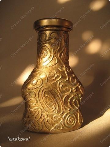 Вот такую бутылочку торопилась делала во время Великого поста для освященного масла. Но на службу не попала, теперь до следующего раза буду ждать. Высота бутылочки 10-12 см. Внутри изображение храма. фото 3