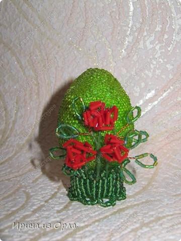 """Вот такое яичко-сувенир """"Розочки"""", наконец-то, появилось у нас в доме. Уж очень долго оно """"рождалось"""".  фото 4"""