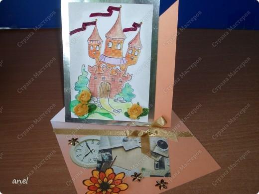 (1) Эта открытка для учительницы русского языка,она очень похожа на изображенную девушку. фото 34