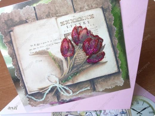 (1) Эта открытка для учительницы русского языка,она очень похожа на изображенную девушку. фото 44