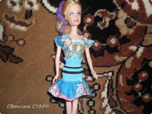 Костюм для дочкиной куклы-стало тепло и нужен новый гардероб для прогулок! фото 1
