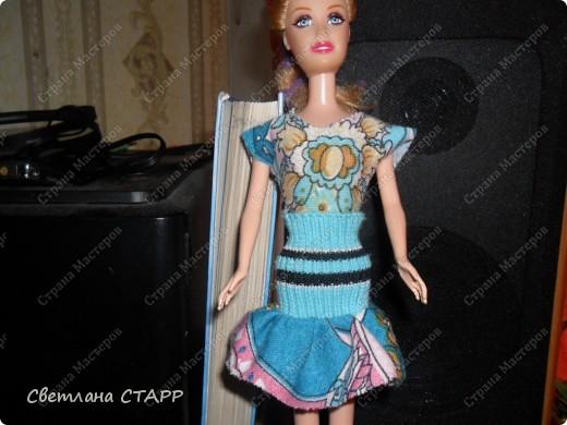 Костюм для дочкиной куклы-стало тепло и нужен новый гардероб для прогулок! фото 2