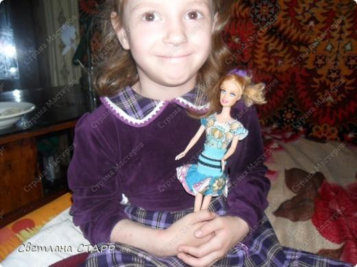 Костюм для дочкиной куклы-стало тепло и нужен новый гардероб для прогулок! фото 3