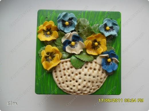 маки и ромашки соленое тесто,панно из гипса фото 5
