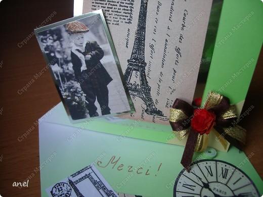 Я так и знала,когда создавала открытки для учителей было чувство что про кого то забыла......да,учительница по французскому осталась без сюрприза,хорошо что ещё не поздно поздравить,сделала я её очень быстро и надеюсь ей понравиться.Остальные 11 открыток для учителей  тут  http://stranamasterov.ru/node/198084 фото 3
