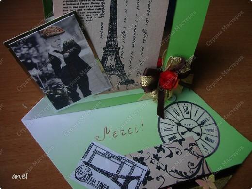 Я так и знала,когда создавала открытки для учителей было чувство что про кого то забыла......да,учительница по французскому осталась без сюрприза,хорошо что ещё не поздно поздравить,сделала я её очень быстро и надеюсь ей понравиться.Остальные 11 открыток для учителей  тут  http://stranamasterov.ru/node/198084 фото 4