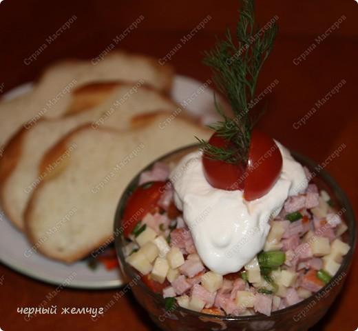 Салат с копчёностями фото 6