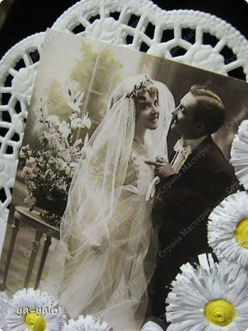 Это моя первая свадебная открытка))) Сделана на заказ, это я к тому говорю, чтобы вы не подумали, что такое прекрасное событие постигло кого-то из моих близких)) фото 8