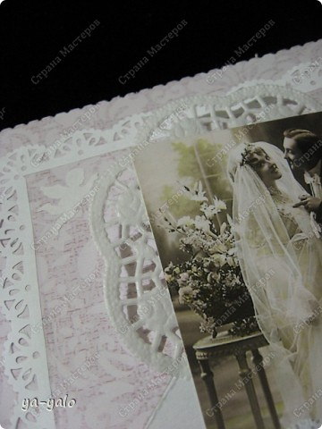 Это моя первая свадебная открытка))) Сделана на заказ, это я к тому говорю, чтобы вы не подумали, что такое прекрасное событие постигло кого-то из моих близких)) фото 10