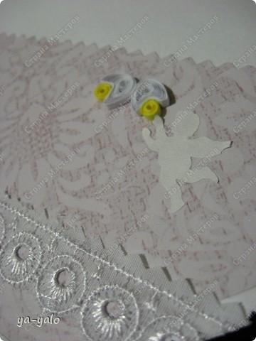 Это моя первая свадебная открытка))) Сделана на заказ, это я к тому говорю, чтобы вы не подумали, что такое прекрасное событие постигло кого-то из моих близких)) фото 11
