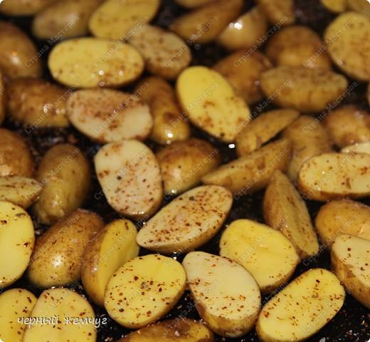 Картофель молодой запеченый. фото 3