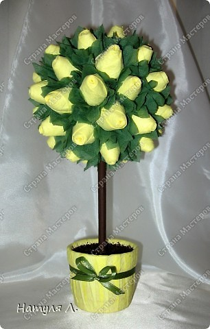 Девочки, хочу немного рассказать и показать как я делаю такие деревья.  По бутонам роз смотрите здесь  https://stranamasterov.ru/node/192686   фото 1