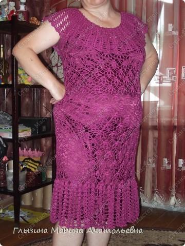 Это мое первое платье связанное крючком на юбилей к дочери. фото 1