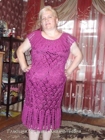 Это мое первое платье связанное крючком на юбилей к дочери. фото 2