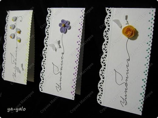 Увидела сегодня у Ирины (Голубка) http://stranamasterov.ru/node/199413#comment-1738988 эти интересные мини-открытки и решила попробовать. Именно такие полоски акварельной бумаги остаются у меня, когда я делаю свои любимые уголочки)) Их у меня уже накопилось довольно много. Былау меня мысль сделать из них маленькие открытки, а оказывается их уже изобрели и даже назвали до меня))) фото 12
