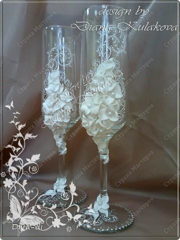 """Свадебные бокалы + набор """"Бал невест"""" фото 6"""
