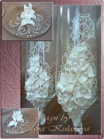 """Свадебные бокалы + набор """"Бал невест"""" фото 7"""