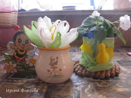 Сегодня вечером Ася приехала с турслёта, и привезла цветы!!!Мне они очень понравились. Я спросила Асю, помнит ли она, как делаются цветы, и Ася без промедления стала мне показывать. Так родился Мастер - класс от Асюши. фото 23