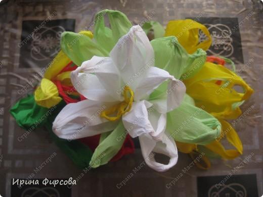 Сегодня вечером Ася приехала с турслёта, и привезла цветы!!!Мне они очень понравились. Я спросила Асю, помнит ли она, как делаются цветы, и Ася без промедления стала мне показывать. Так родился Мастер - класс от Асюши. фото 22