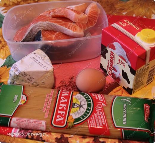 Спагетти с лососем фото 2