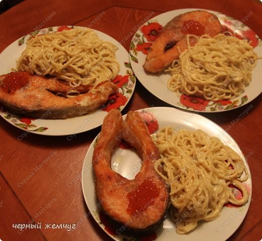 Спагетти с лососем фото 8