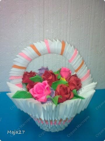 Корзинка с розами. фото 1
