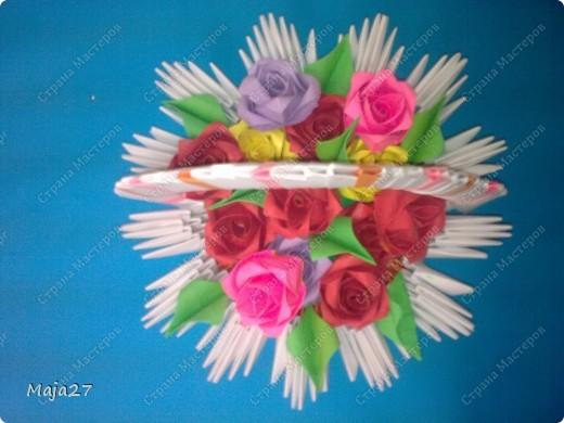 Корзинка с розами. фото 2