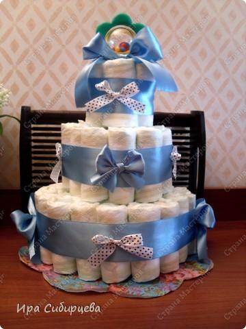 Скоро у моих друзей родится сыночек!!! Решила им сделать такой подарочек!:))) Ушло 56 подгузников. фото 1