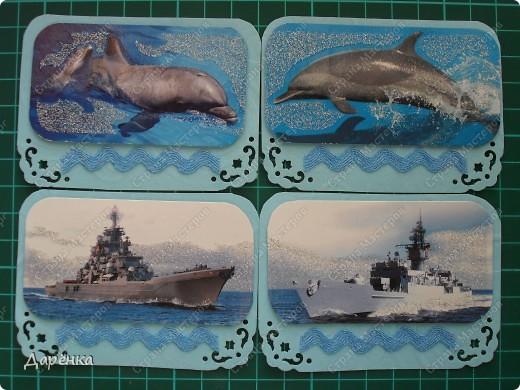 Объединила в одну серию корабли и дельфинов. Мне кажется, что и те и другие одинаково уверенно чувствуют себя среди волн.  фото 1