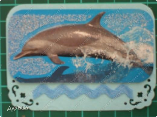Объединила в одну серию корабли и дельфинов. Мне кажется, что и те и другие одинаково уверенно чувствуют себя среди волн.  фото 3