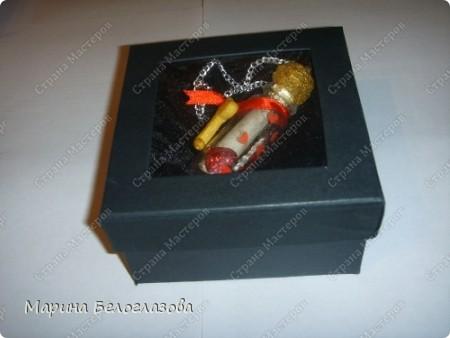 """Благодаря СМ и МК  ПОЭМА ОБ ОРИГАМИ """"послание в бутылке"""" я сделала оригинальный подарок Любимому!! фото 1"""
