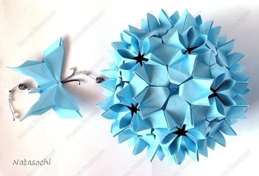Автор - Наталья Силиверстова, Модель: Эвридика http://88natty88.blogspot.com/2009/10/kusudama-evridika.html http://ru-kusudama.livejournal.com/394737.html  фото 1