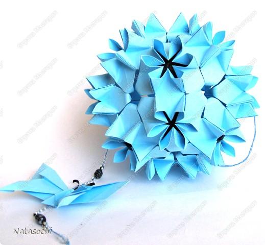 Автор - Наталья Силиверстова, Модель: Эвридика http://88natty88.blogspot.com/2009/10/kusudama-evridika.html http://ru-kusudama.livejournal.com/394737.html  фото 2