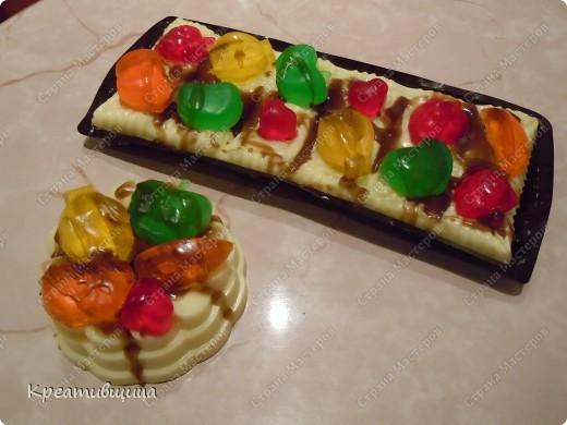 мыльный тортик в подарок девочке на день рождения ))) фото 1