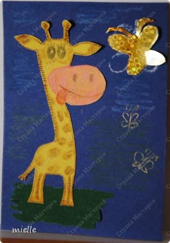 Принимайте к себе моих жирафиков. Зверьки из бархатной бумаги. Кредиторы (Шмыга, Аня и Настя, maniya, Ольга Иванова, Kapusta), если нравится, выбирайте фото 3