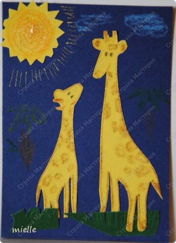 Принимайте к себе моих жирафиков. Зверьки из бархатной бумаги. Кредиторы (Шмыга, Аня и Настя, maniya, Ольга Иванова, Kapusta), если нравится, выбирайте фото 5