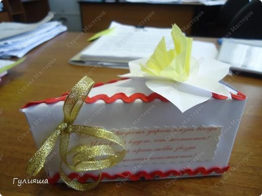Кусочек торта сестренке на день рождения по МК http://stranamasterov.ru/node/25622?c=favorite на скорую руку. фото 3