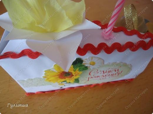 Кусочек торта сестренке на день рождения по МК http://stranamasterov.ru/node/25622?c=favorite на скорую руку. фото 1
