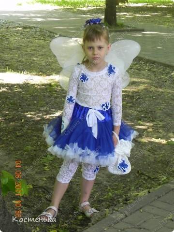 Вот и у меня сшилась юбочка для доченьки.Правда, не из оригинальной ткани, а из фатина. фото 2