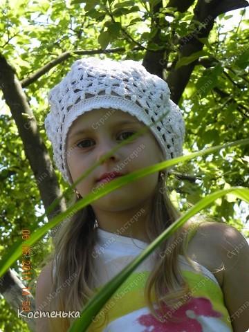 Очередной беретик для любимой доченьки Иришки фото 5
