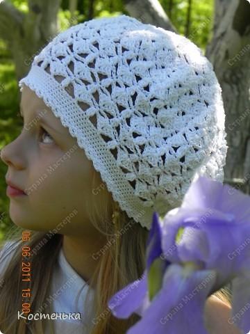 Очередной беретик для любимой доченьки Иришки фото 1