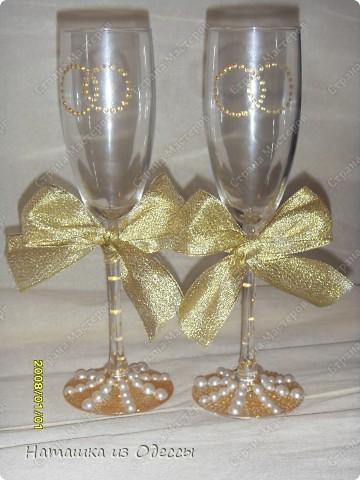 Набор из бокалов и шампанского фото 2