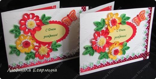 И снова повод для открыток. Поскольку на улице жара, то открытки получились очень даже летние. фото 1