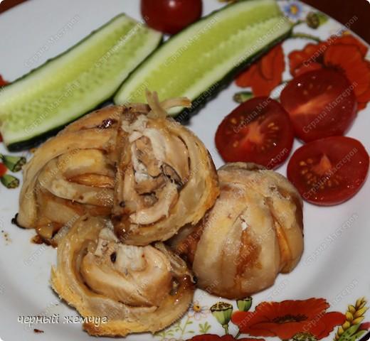Куриное филе в слойке фото 6